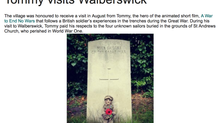 Tommy Featured on Walberswick News