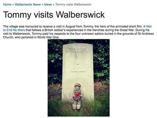 Tommy Featured on Walberswick News