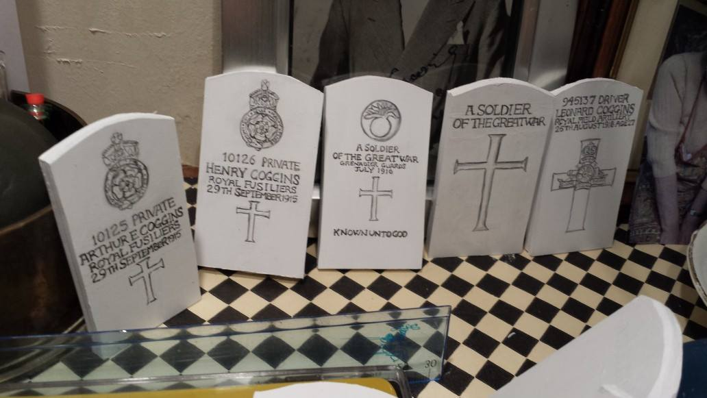 Completed headstones