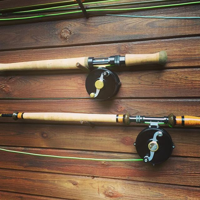 Farlex Reels on Spey Rods
