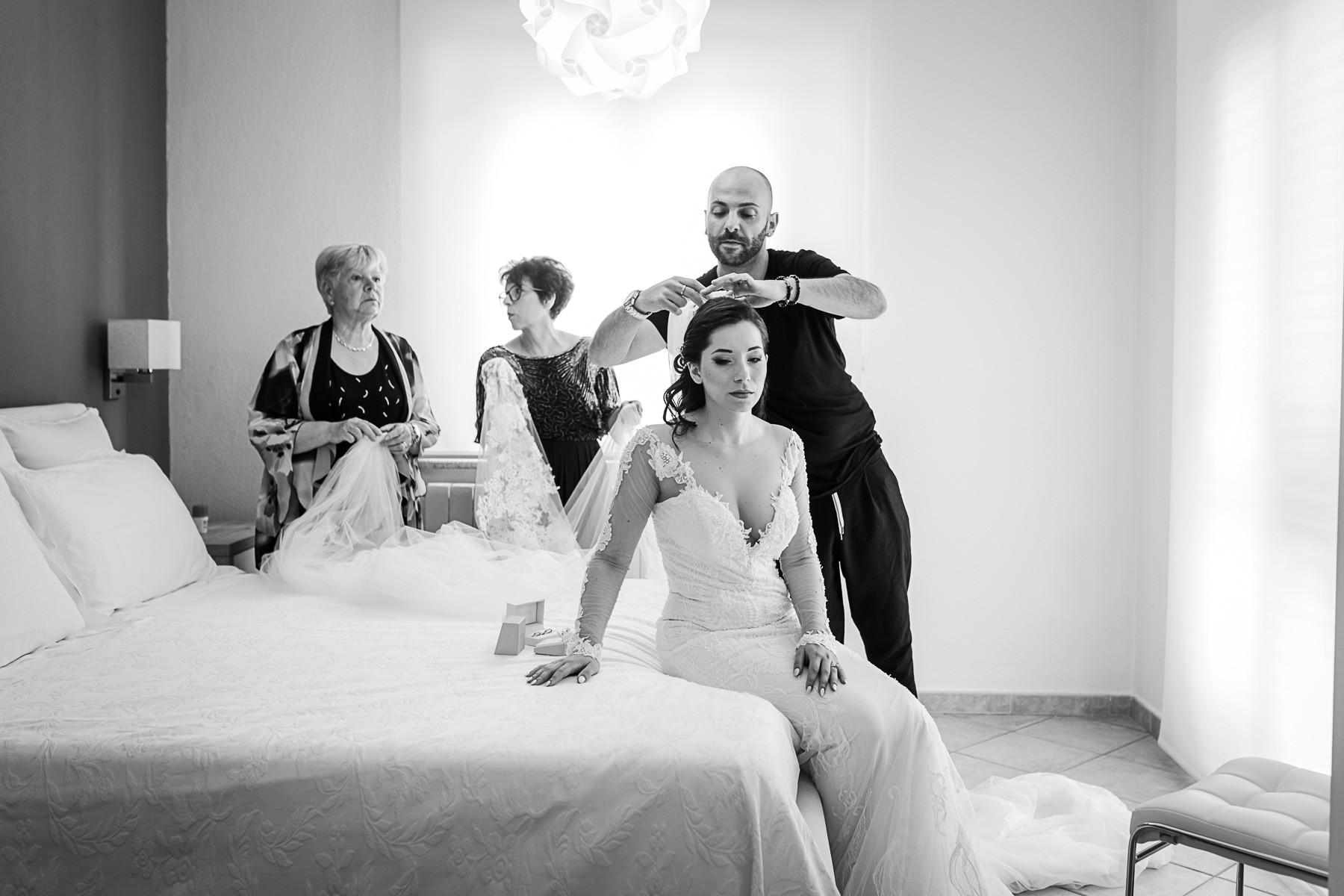 getting ready wedding sardinia
