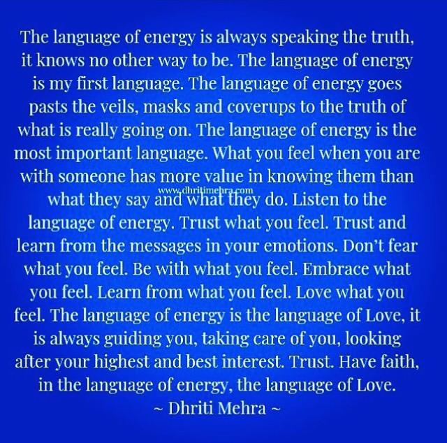 language of energy DhritiMehra