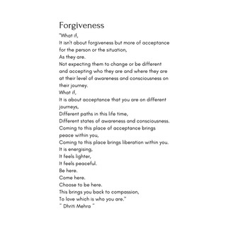 Forgiveness, what if