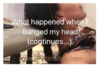 What happened when I banged my head, continues...
