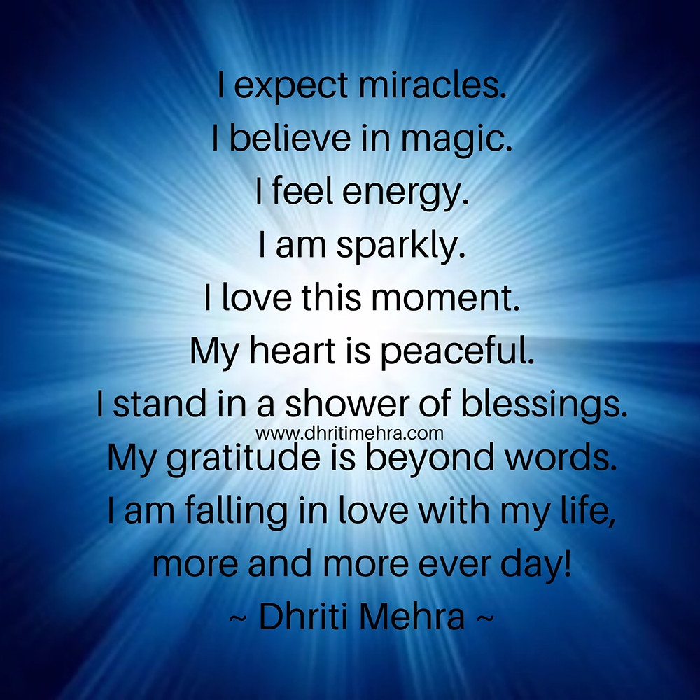 miracles magic energy peace blessings gratitude
