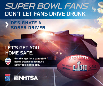 This Super Bowl Season, Remember: Fans Don't Let Fans Drive Drunk