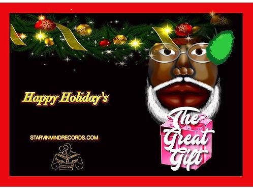 Black Santa Pink Gift