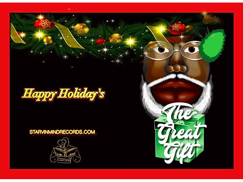 Black Santa Green Gift