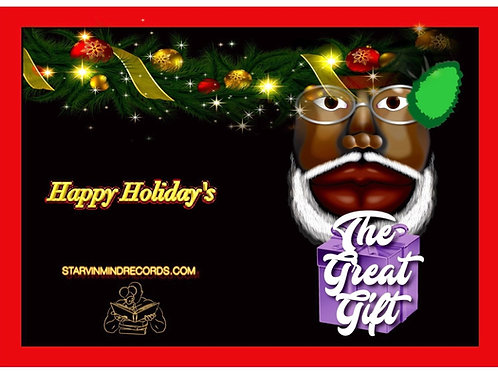 Black Santa Purple Gift
