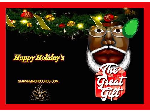 Black Santa Red Gift