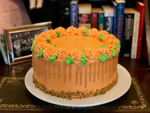 Kürbis, Pistazien Sponge Cake