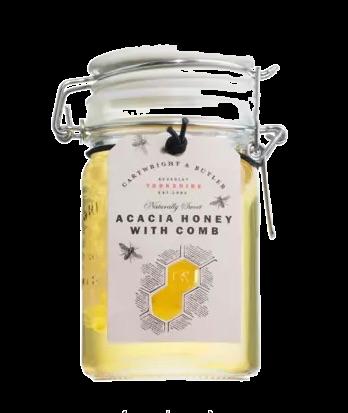 Akazienhonig mit Bienenwabe
