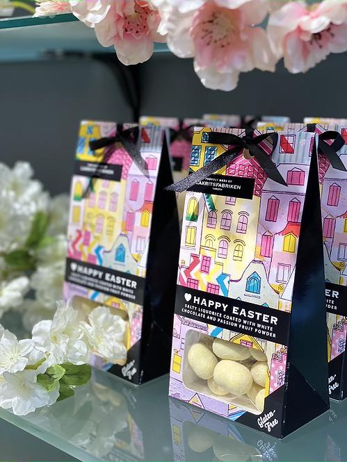 Happy Easter Salziges Lakritzumhüllt  mit weißer Schokolade