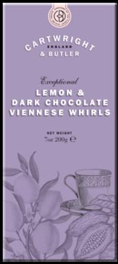 Lemon & Dark Chocolate Viennese Whirl