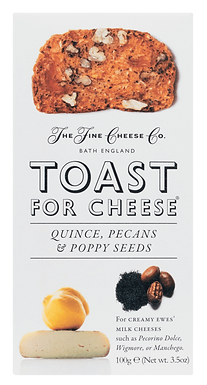 Toast for Cheese - Quitte, Pekannuss und Mohn