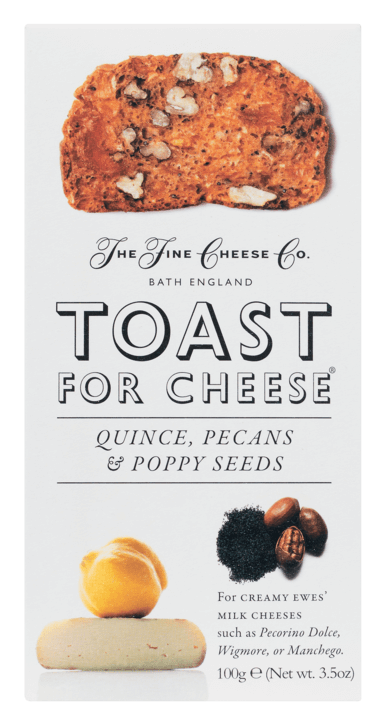 Toast for Cheese - Quitte, Pekannuss und Mohn