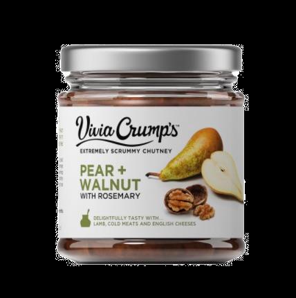 Pear & Walnut with Rosemary Chutney