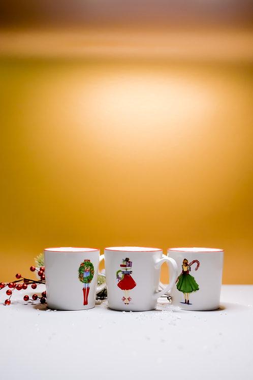 Vintage Holiday Mugs