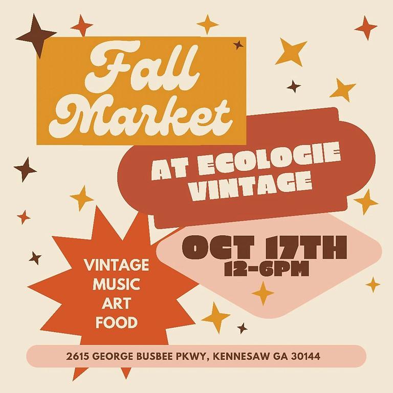 Fall Market at Ecologie Vintage