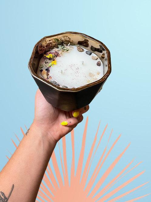 Sedona Magick (black and gold vase)