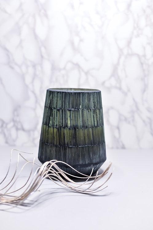 Blue Pinstripe Vase