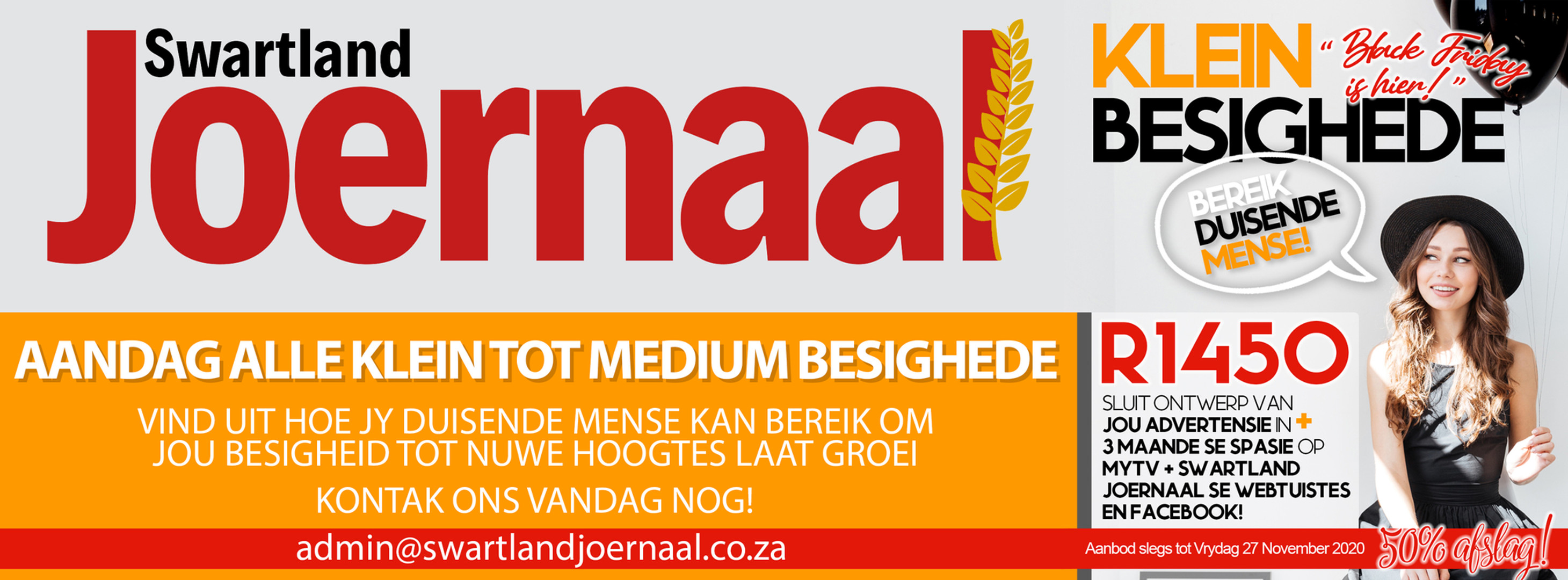 SWARTLAND ADVERTENSIE