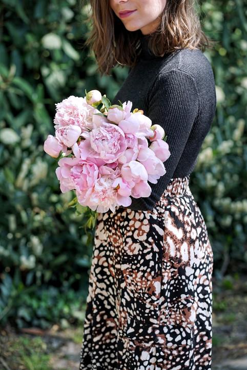 Roze pioenrozen