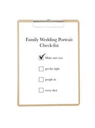 Family Wedding Portrait Check-list