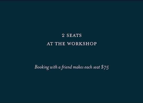 2 SEATS - How To Light A Wedding Workshop