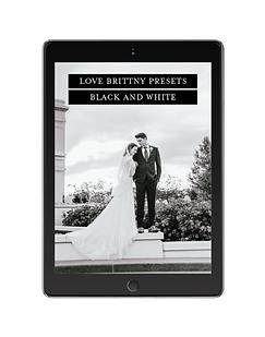 Love brittny Preset Black + White