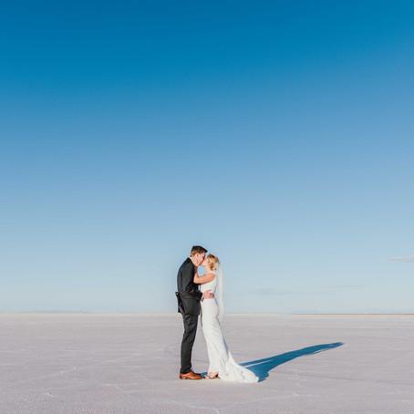 Bridals at the Salt Flats   Salt Lake Wedding