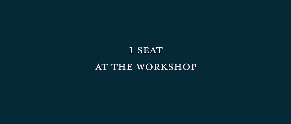 1 SEAT - How To Light A Wedding Workshop