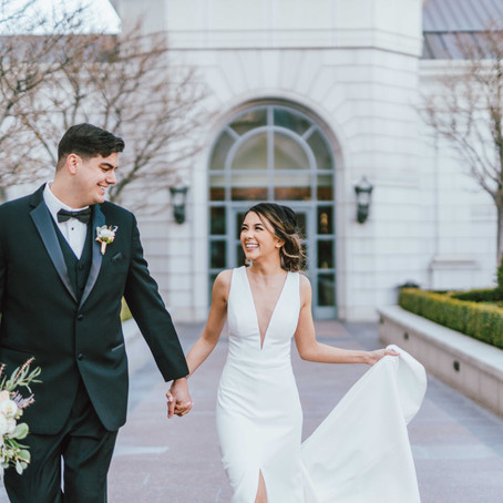 Black and White Wedding at the Grand America Hotel
