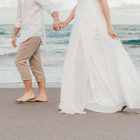 Florida Beach Engagement Session...and pizza!