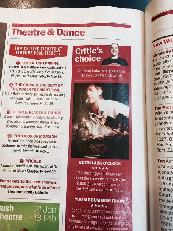Time Out ***** Critic's Choice