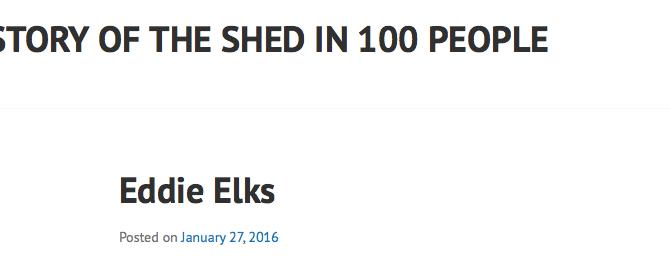 History of The Bike Shed Theatre in 100 people - Eddie Elks