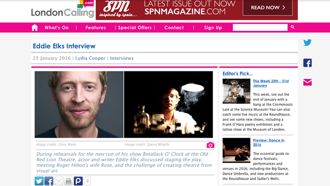 Eddie Elks Interview - London Calling