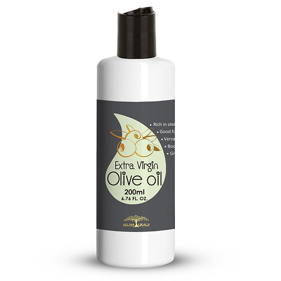 Extra Virgin Olive Oil Cold-Pressed for Skin, Hair Growth & Body Massage - 200ml