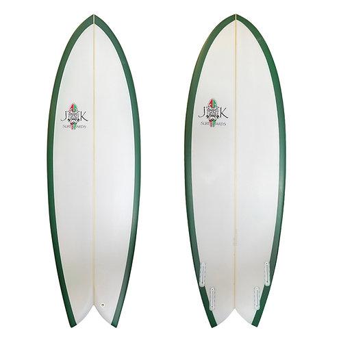 "5'8"" -  6'4"" Retro Fish Surfboard Groveler"