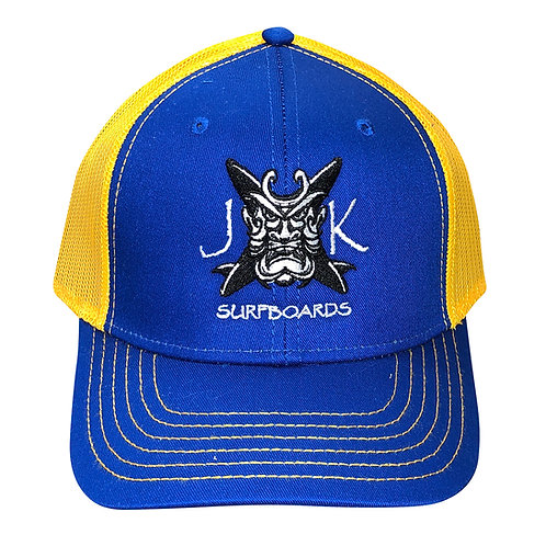 JK Blue Gold Trucker Hat