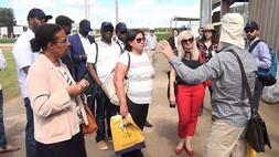 Visitantes de comitivas internacionais participam da AgroBrasília 2018