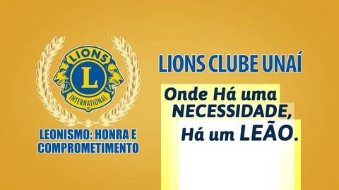 Ações Lions Clube Unaí durante o ano de 2020