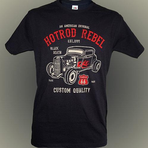 Hotrod Rebel T Shirt.   Free P&P