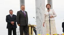 Мугалим встречает Президента
