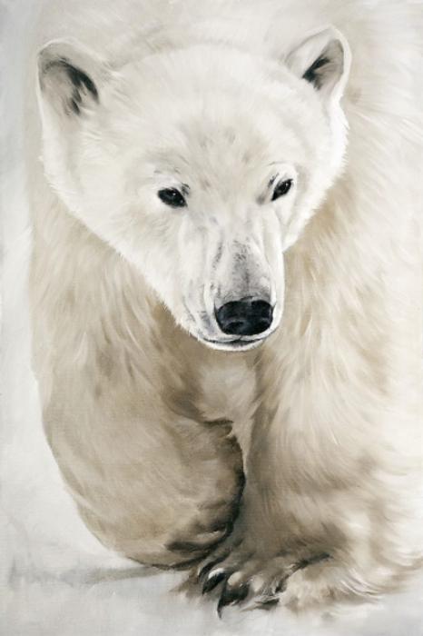 Toile sur châssis - Ours polaire qui marche