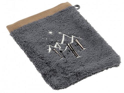Gant de toilette - Collection Étoiles et skis