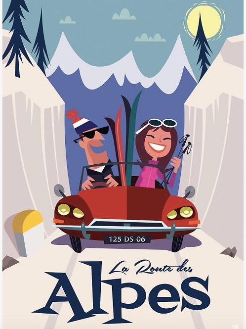 Impression sur dibond - La route des Alpes