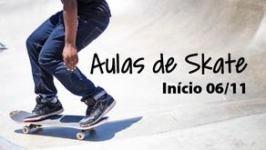 Abertas as inscrições para as aulas de Skate
