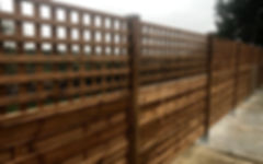 Panel Fencing with trellis on Plates