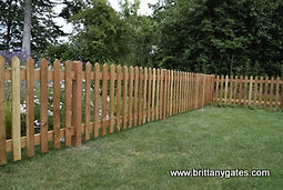 Palisade Fencing with morticed Post